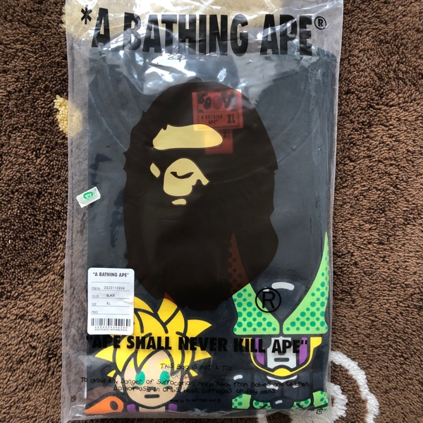 Bape Dragon Ball Z Son Gohan & Cell Tee Black