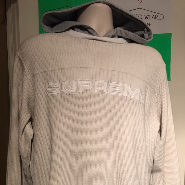 Fw17 Supreme Hooded Waffle Ringer Top