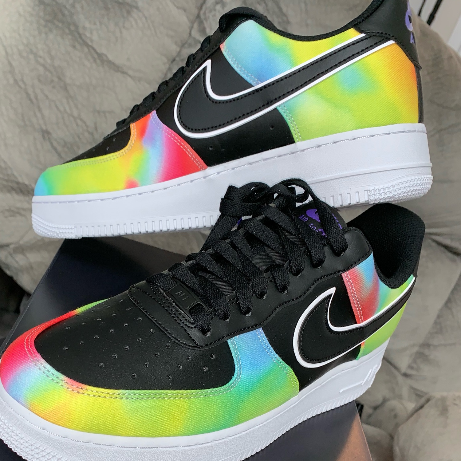 "Nike Air Force 1 ""Tie Dye"" Sz 11.5, Ck0840001"