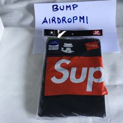 Supreme Tagless Tee 3 Pack Black Small