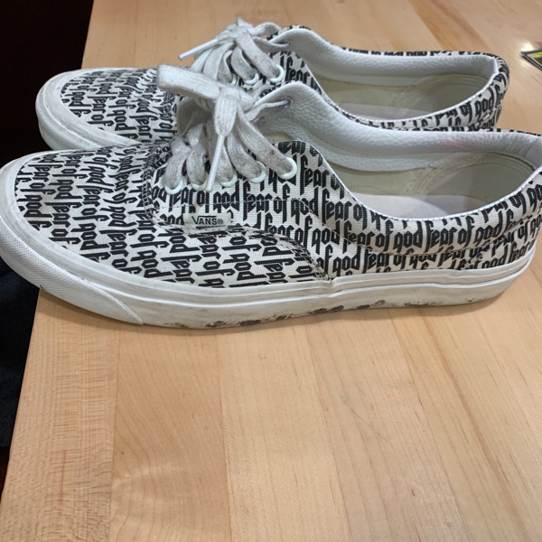Fear Of God Vans Size 10