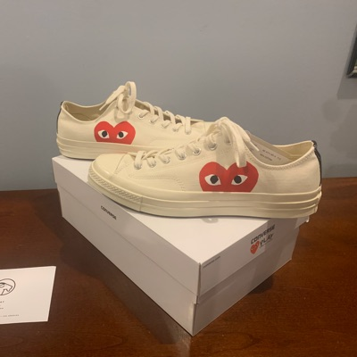 White Cdg Play Low Top Converse