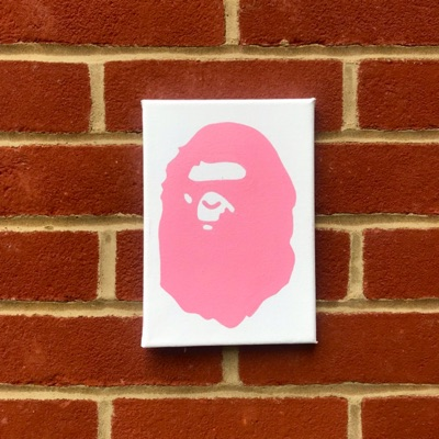 Pink Bape Head Painting
