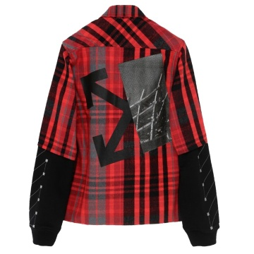OFF-WHITE Checked Shirt Red/Black
