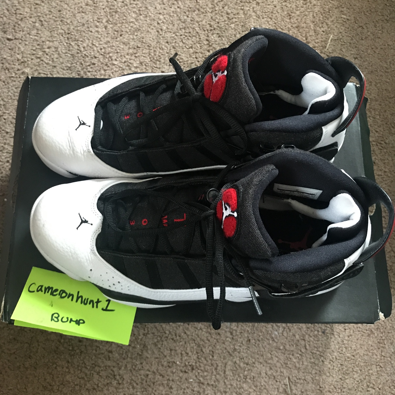 size 40 c95ed 85f4f Jordan 6 Rings Black/ White- Gym Red- Black