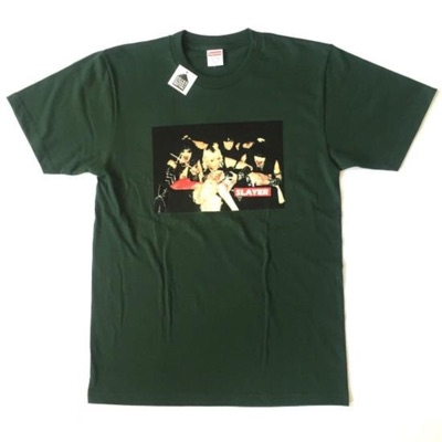 Supreme X Slayer Green Altar Print Crewneck Tshirt
