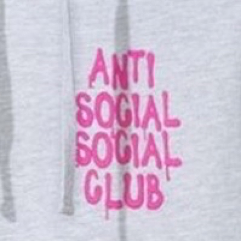 LES Grey hoodie Anti Social Social Club