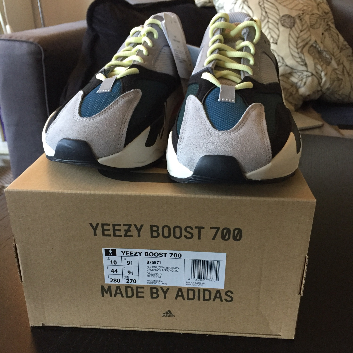 f64952c0ab74e Adidas Yeezy Wave Runner 700 Solid Grey