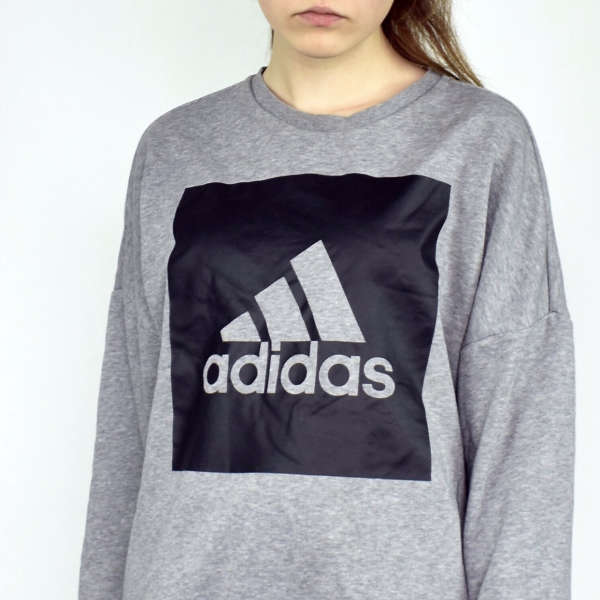 Adidas sweatshirt jumper sweater pullover hoodie in gray