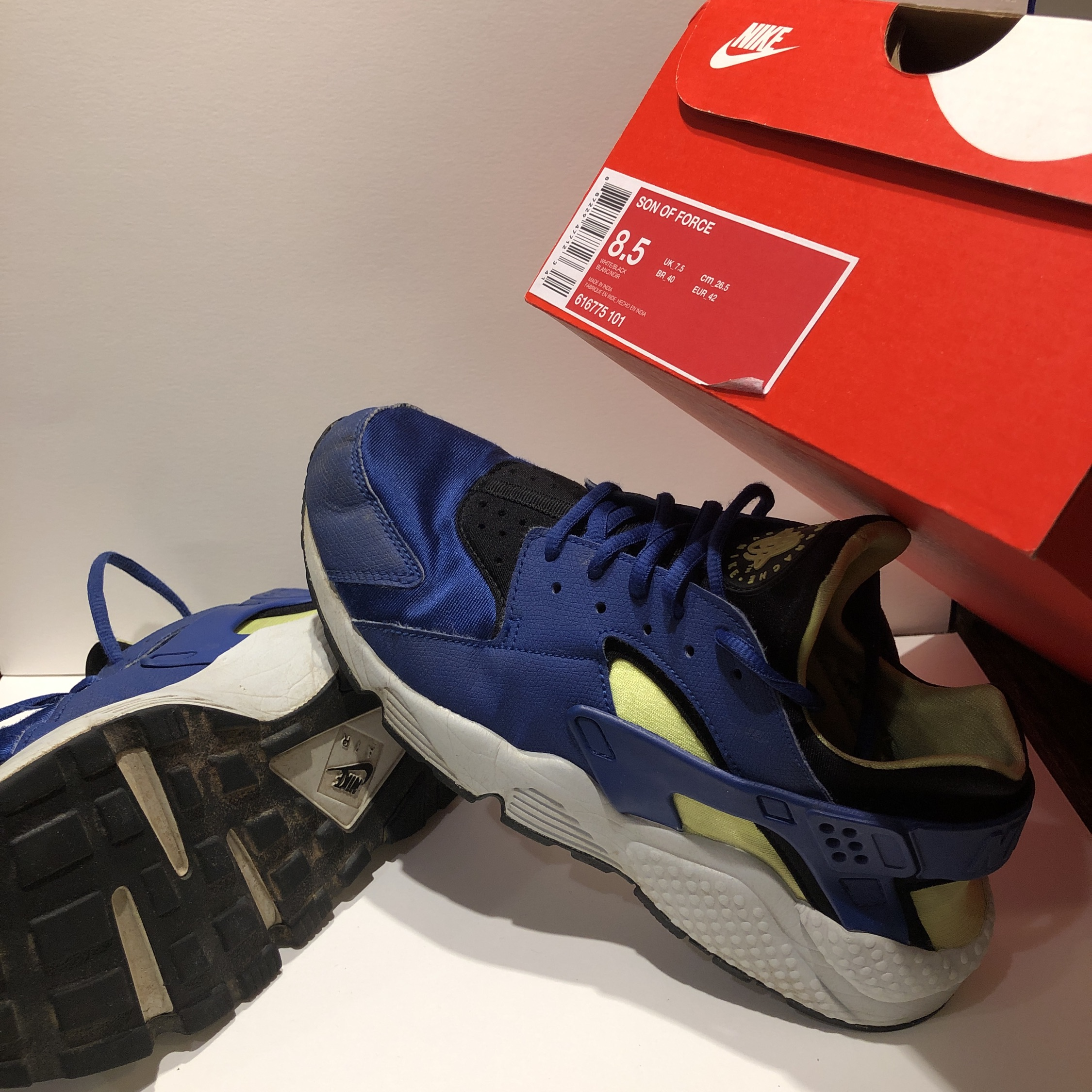 50% off huge selection of best Nike Huarache Yellow Blue