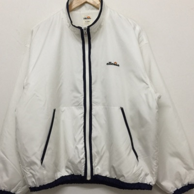 Vintage Ellesse White Zip Up Jacket