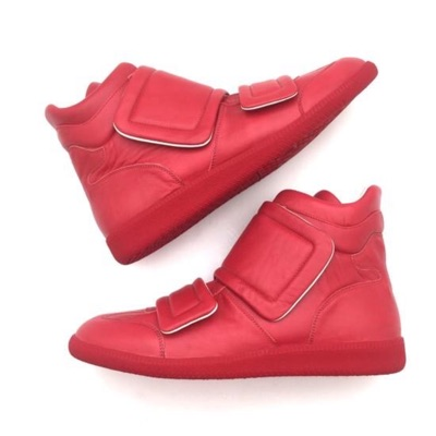 Maison Margiela Red High Top Sneakers Ds