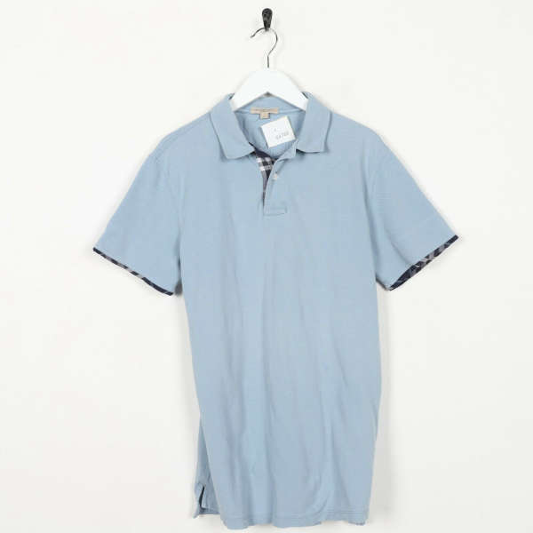 Vintage BURBERRY BRIT Nova Check Polo Shirt Top Blue | Medium M