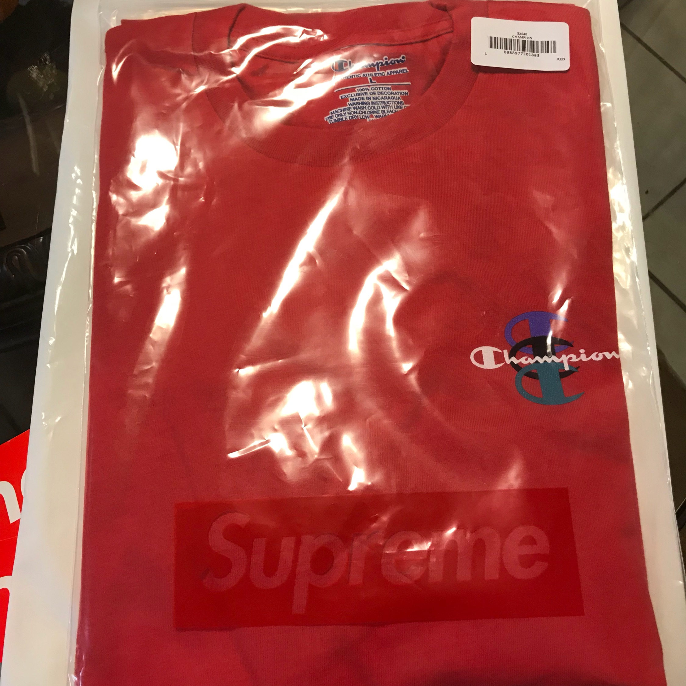 Supreme/Champion Stacked Tee
