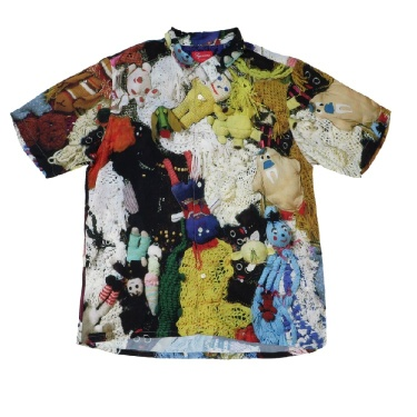 🔥 FW18 Supreme X Mike Kelley More Love Hours Than Can Ever Be Repaid Rayon Shirt 🔥