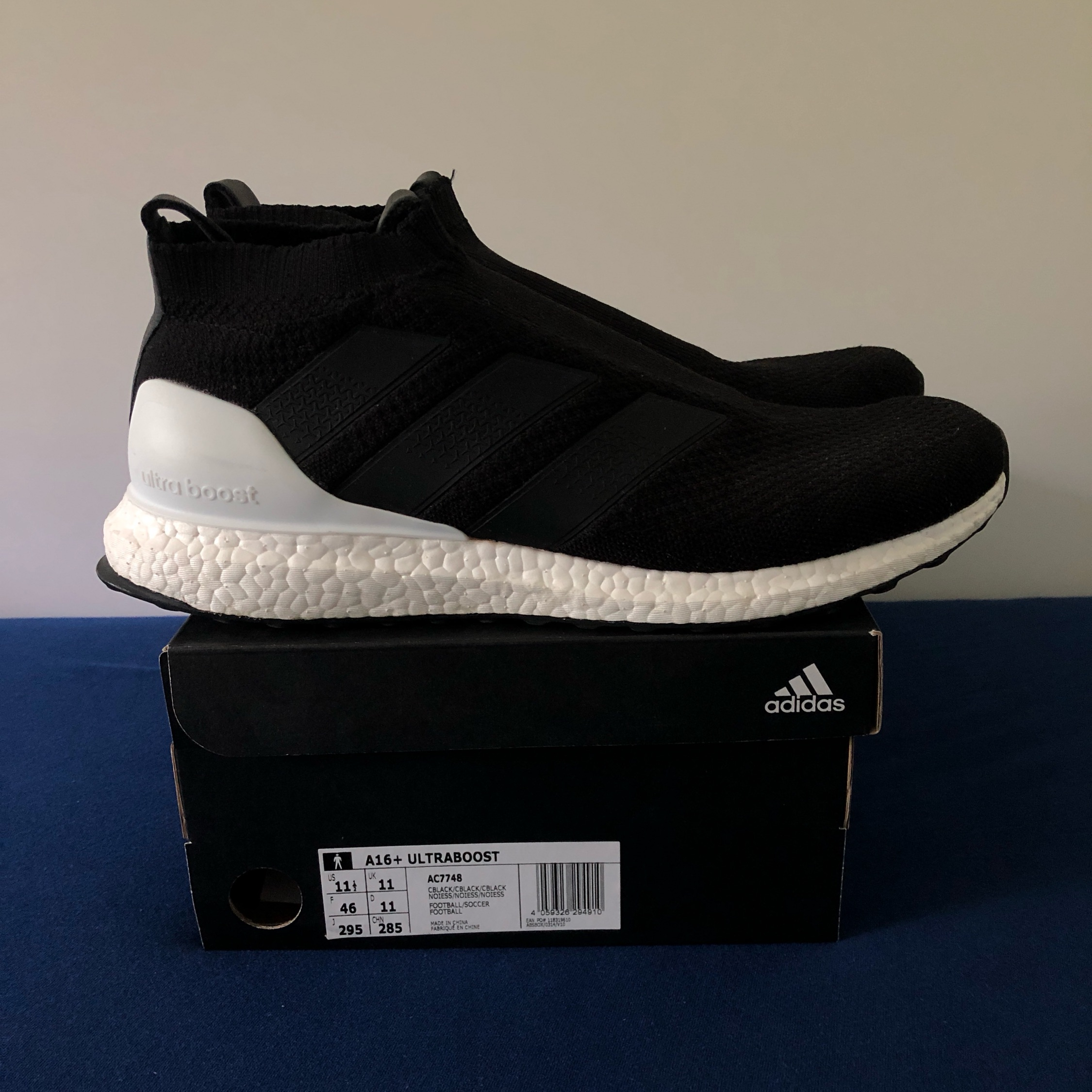 online store 54945 f0acb Adidas Ace 16+ Ultra Boost Core Black