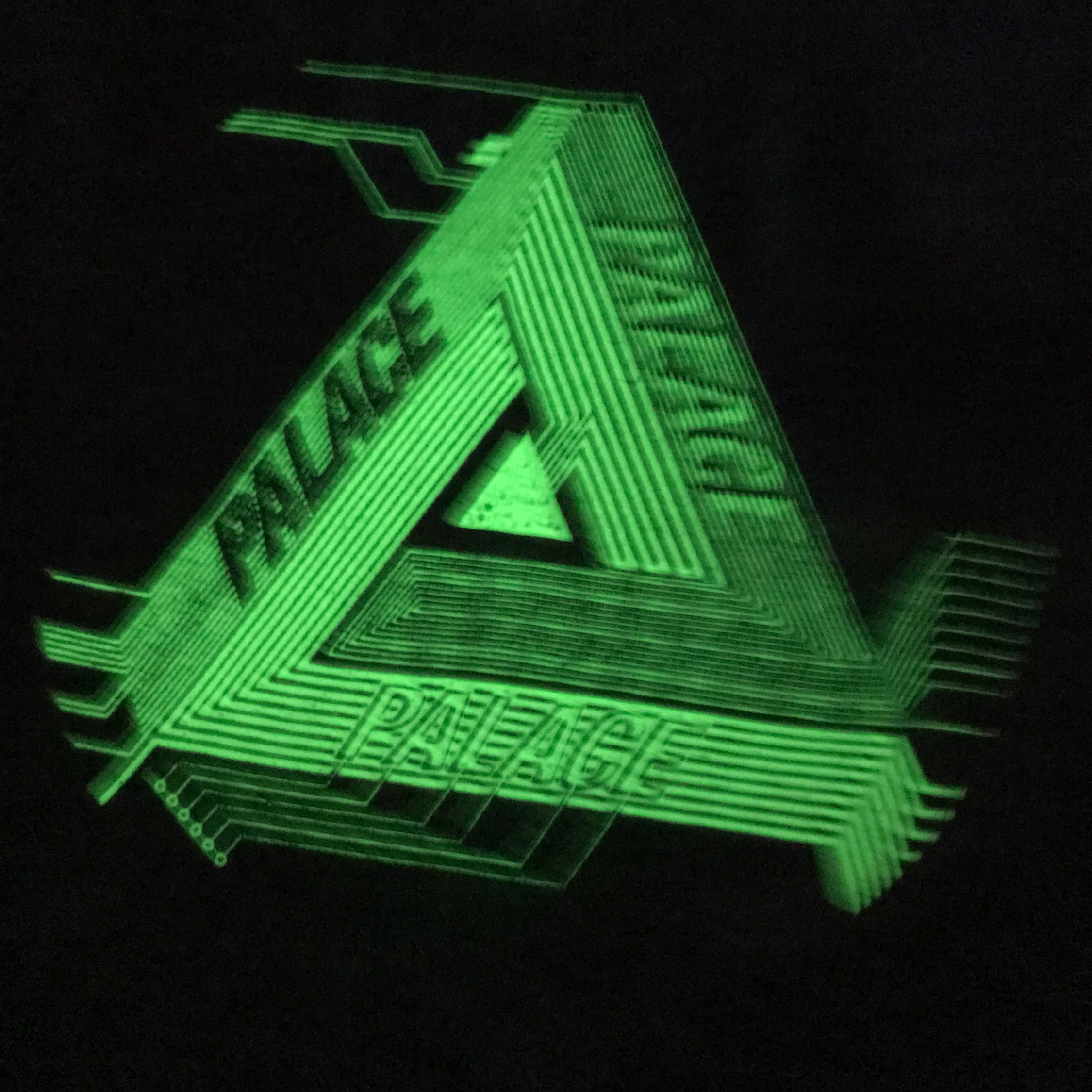 Palace Surkit Long Sleeve L/S Tee Glow In The Dark