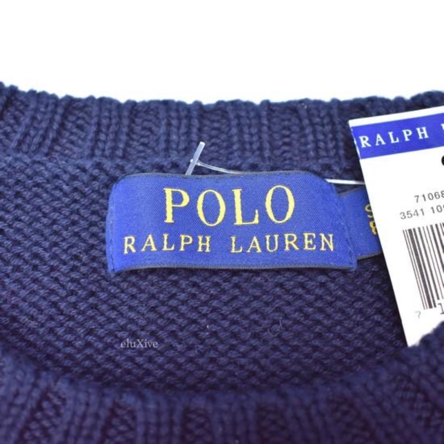 Flag Ralph Knit Polo Intarsia Sweater Lauren W9ID2HE