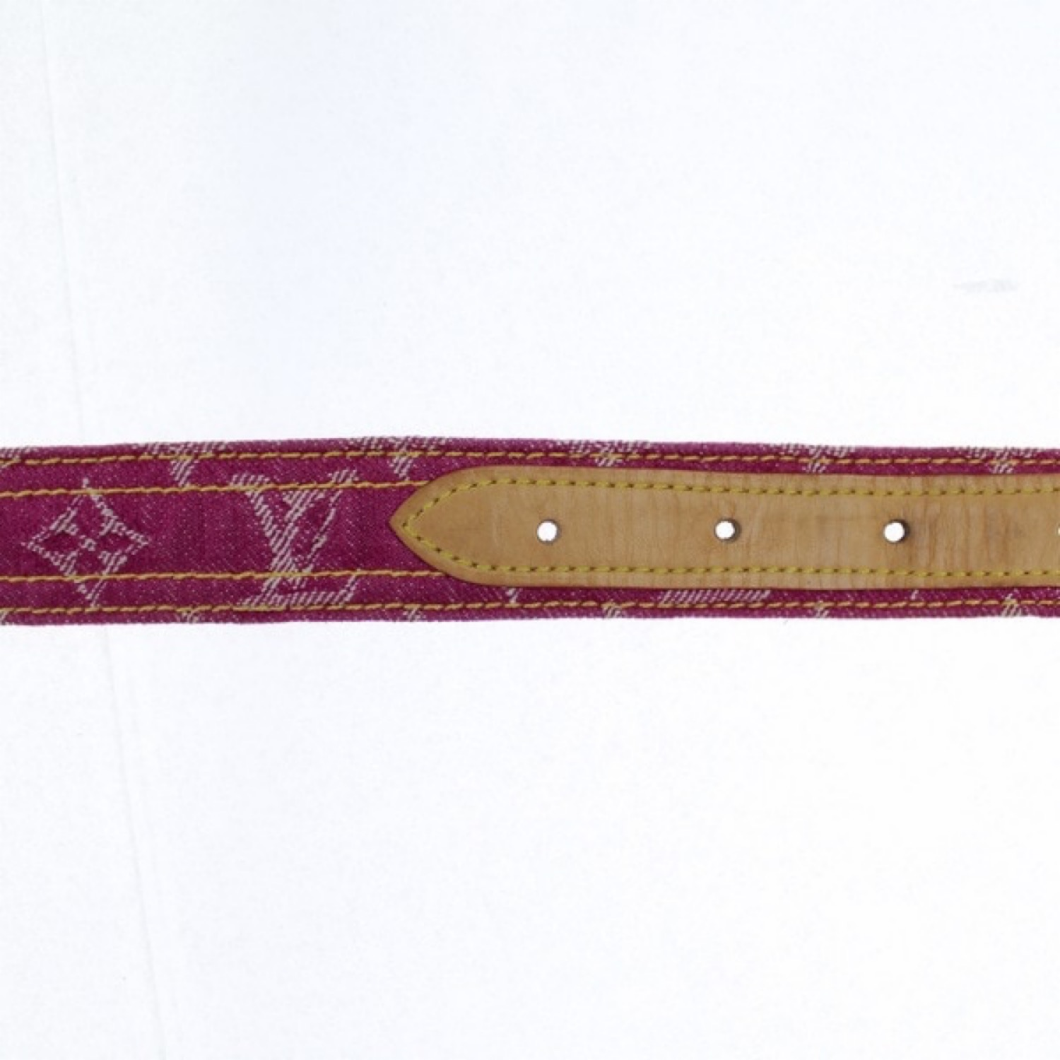 Louis Vuitton Pink Denim Monogram Belt
