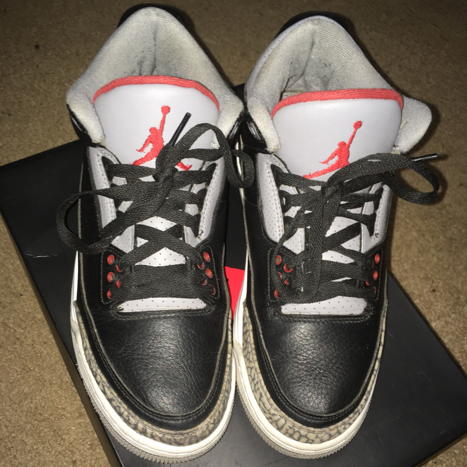 pretty nice 89926 4be38 Used Air Jordan 3 Retro Og 'Black Cement' 2018