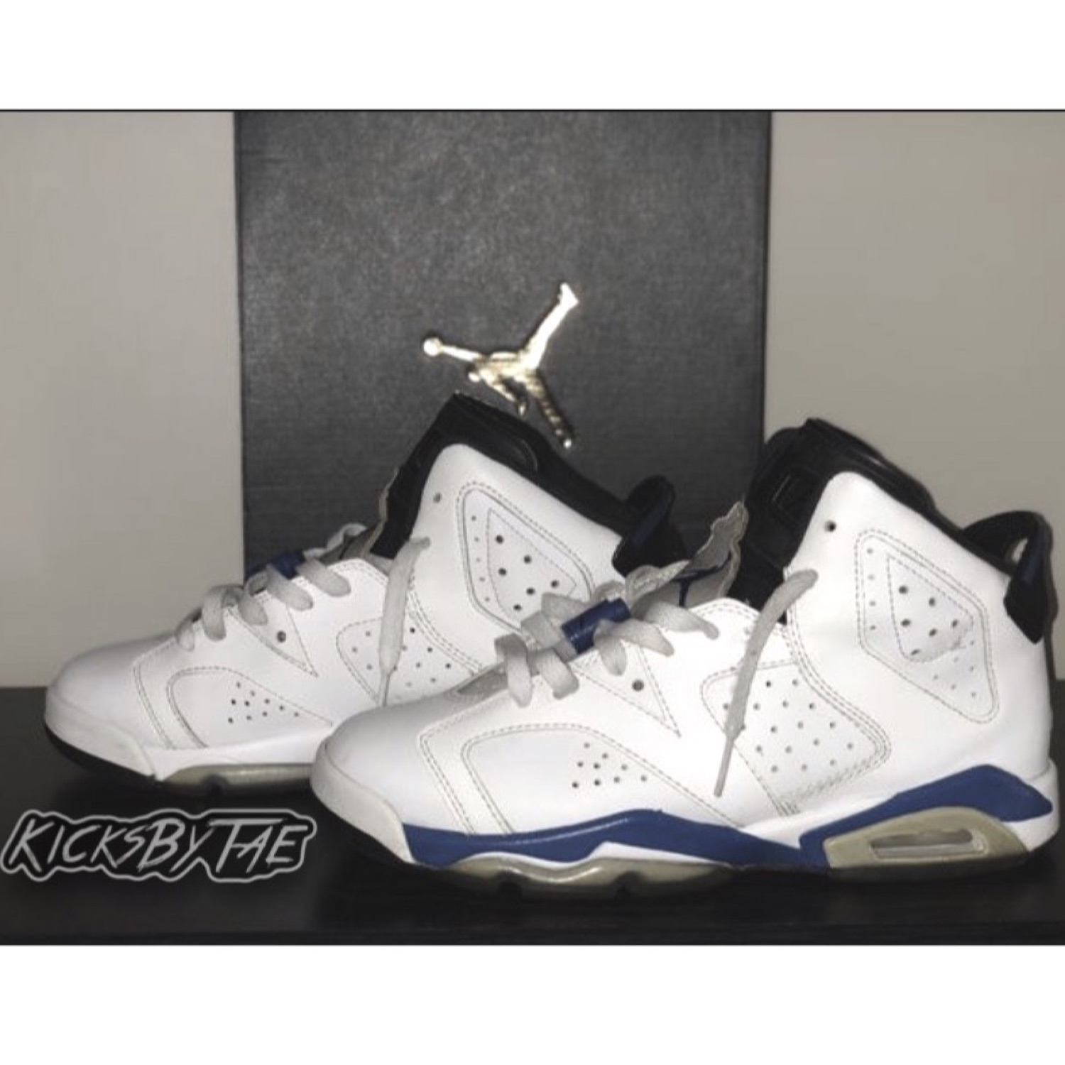 "Air Jordan 6 ""Sport Blue"" Size 6.5 (Gs) Boys"