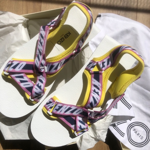 Kenzo Traditional Japanese Style Strap Sandal Pink
