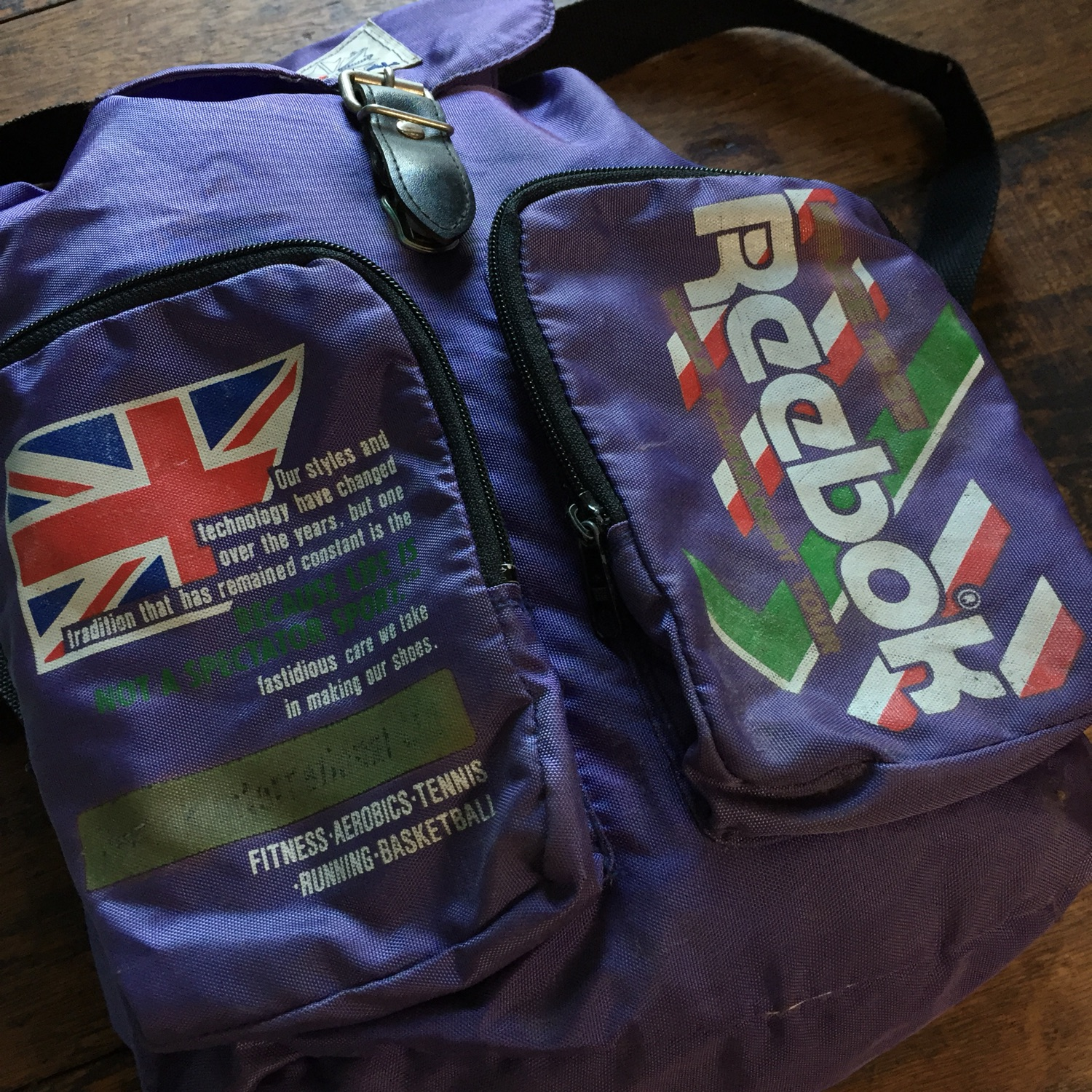 Vintage Reebok Basketball Backpack