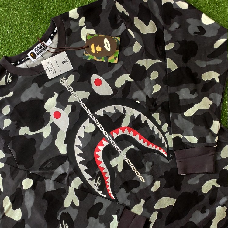 Bape City Camo WGM Shark LS Tee