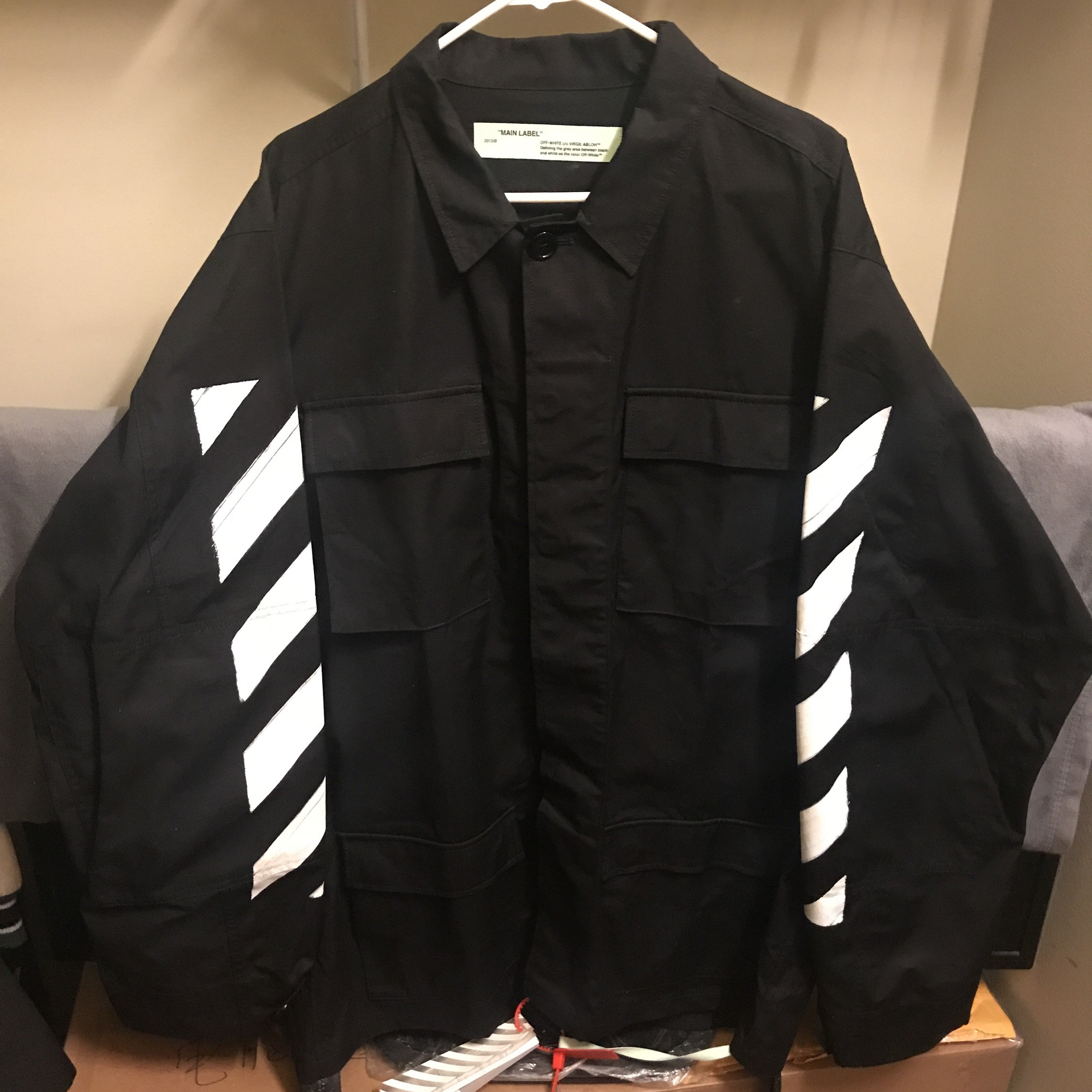 329d7924f Off White Diag Brushed Field Jacket