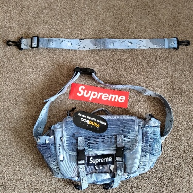 Supreme/Cordura Waist Bag (SS20) Blue Chocolate Chip Camo