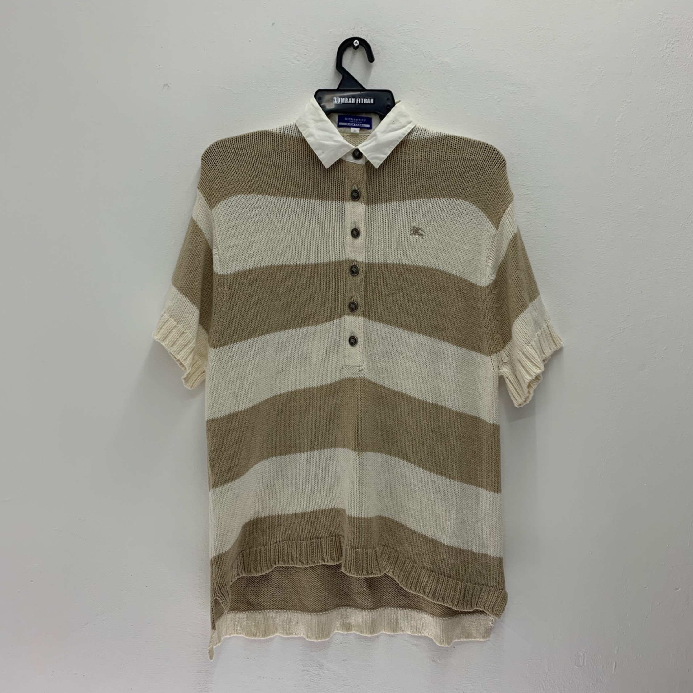 Burberry Blue Label Polo Shirt Knitwear Vintage 90