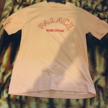 Palace Palace Means Cuture Tee Shirt Peach