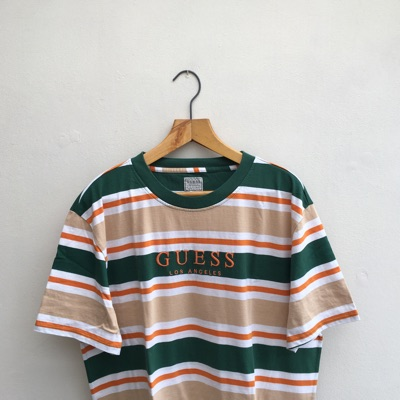 Guess Striped T Shirt - Brand New - Size L