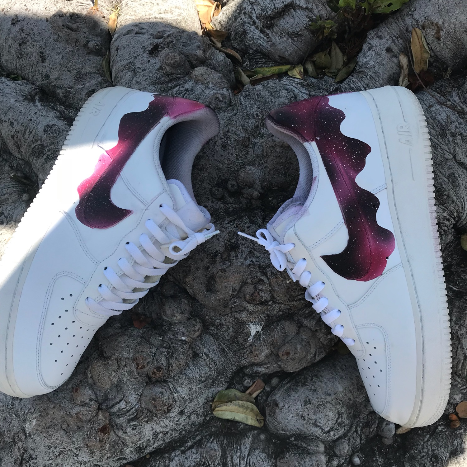 73e3a0d454c29 Custom Galaxy Drip Air Force Ones