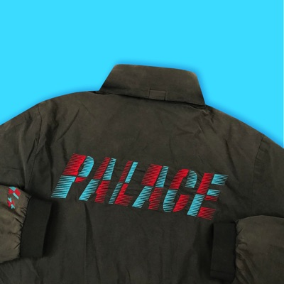 Palace One Tooth Tracksuit Top Black/Multi-color