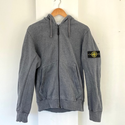 Stone Island Grey Zip Up Jacket