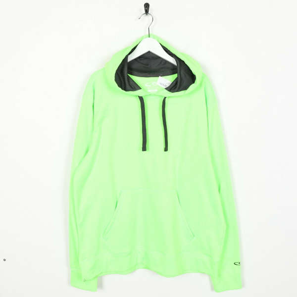 Vintage C9 By CHAMPION Small Logo Polyester Hoodie Sweatshirt Green | Large L