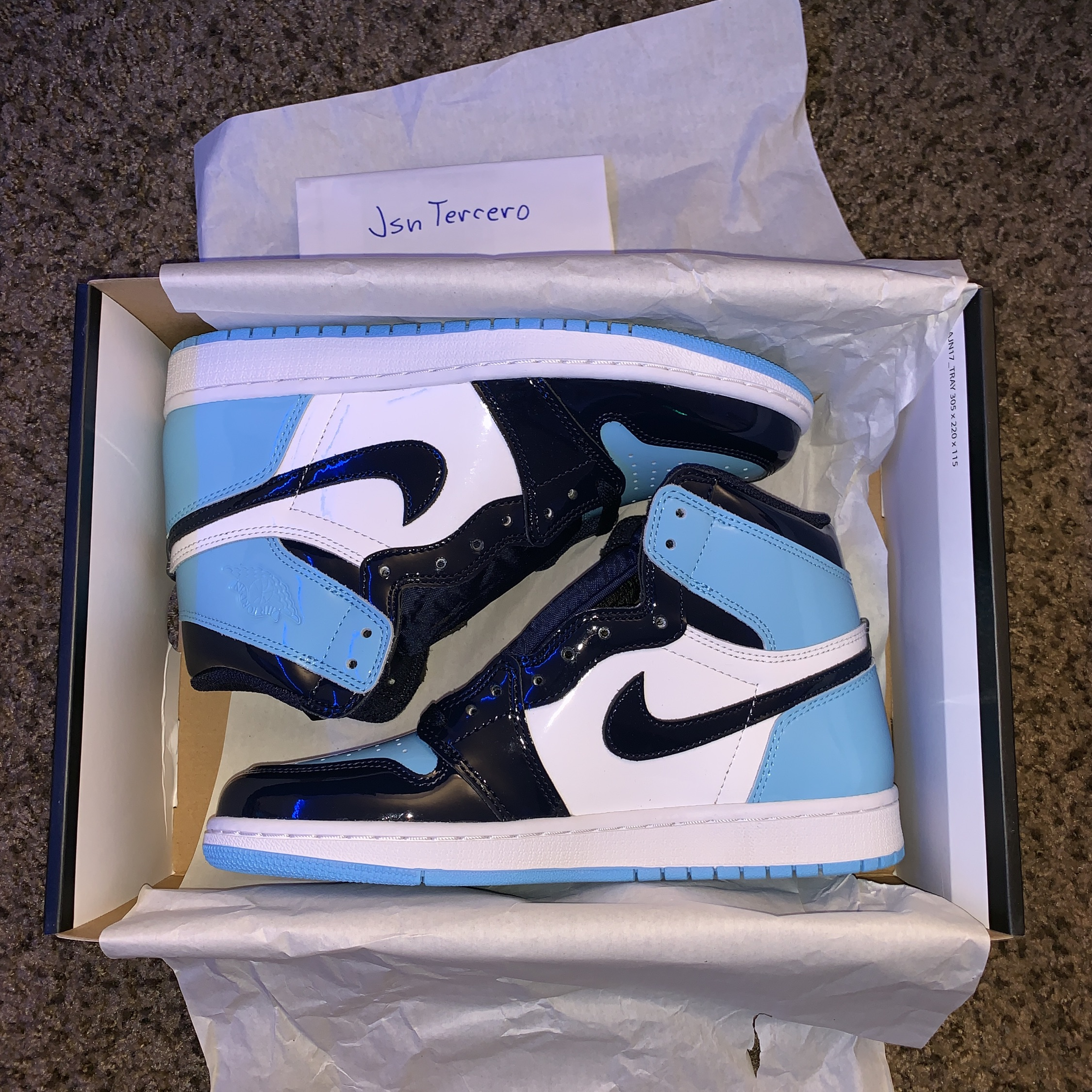Air Jordan 1 Blue Chill Size 7 5 W Free Shipping