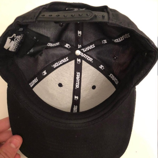 Marcelo Burlon black hat with Red Wings
