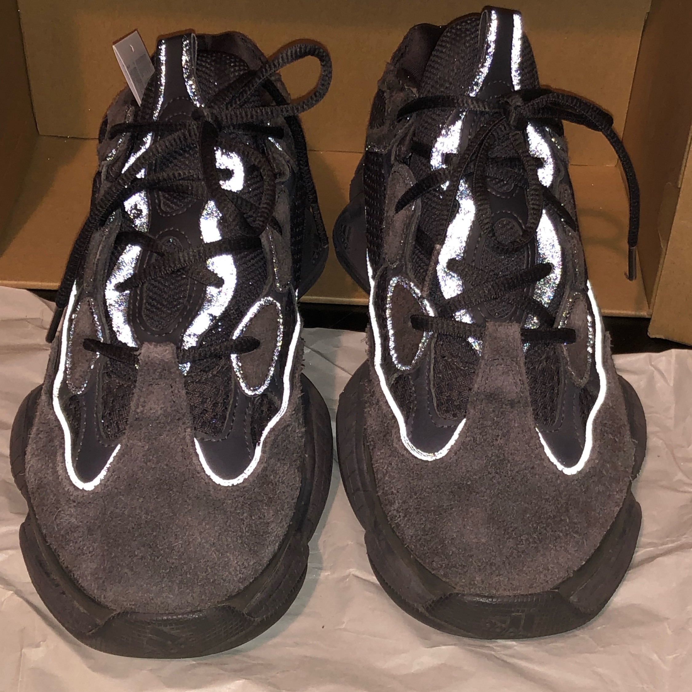 detailed look 7a22a 096e8 Yeezy 500 Utility Black