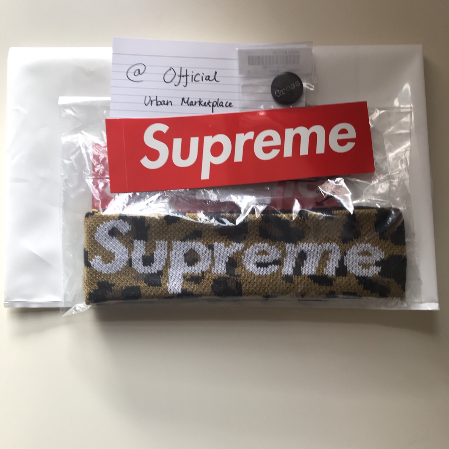 f7ee493cb02 Supreme X New Era Leopard Headband