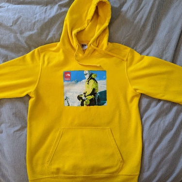 SUPREME TNF PHOTO HOODED SWEATSHIRT YELLOW