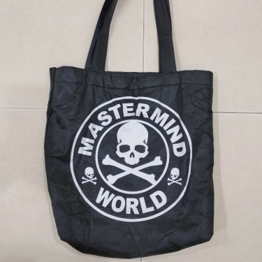 Mastermind Japan Mastermind World Skull Logo Quilted Nylon Tote Bag  Size: ONE SIZE  Color: Black  Condition: New