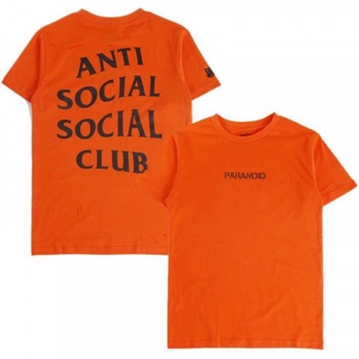 Assc X Undefeated Orange Paranoid Tee