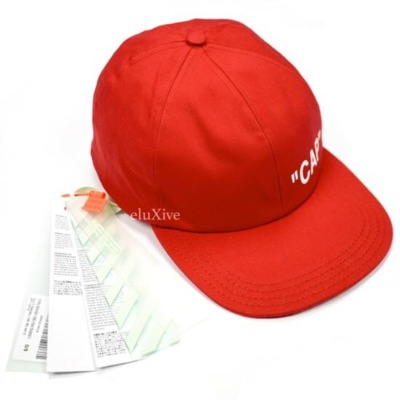Red 'Cap' Logo Hat Nwt