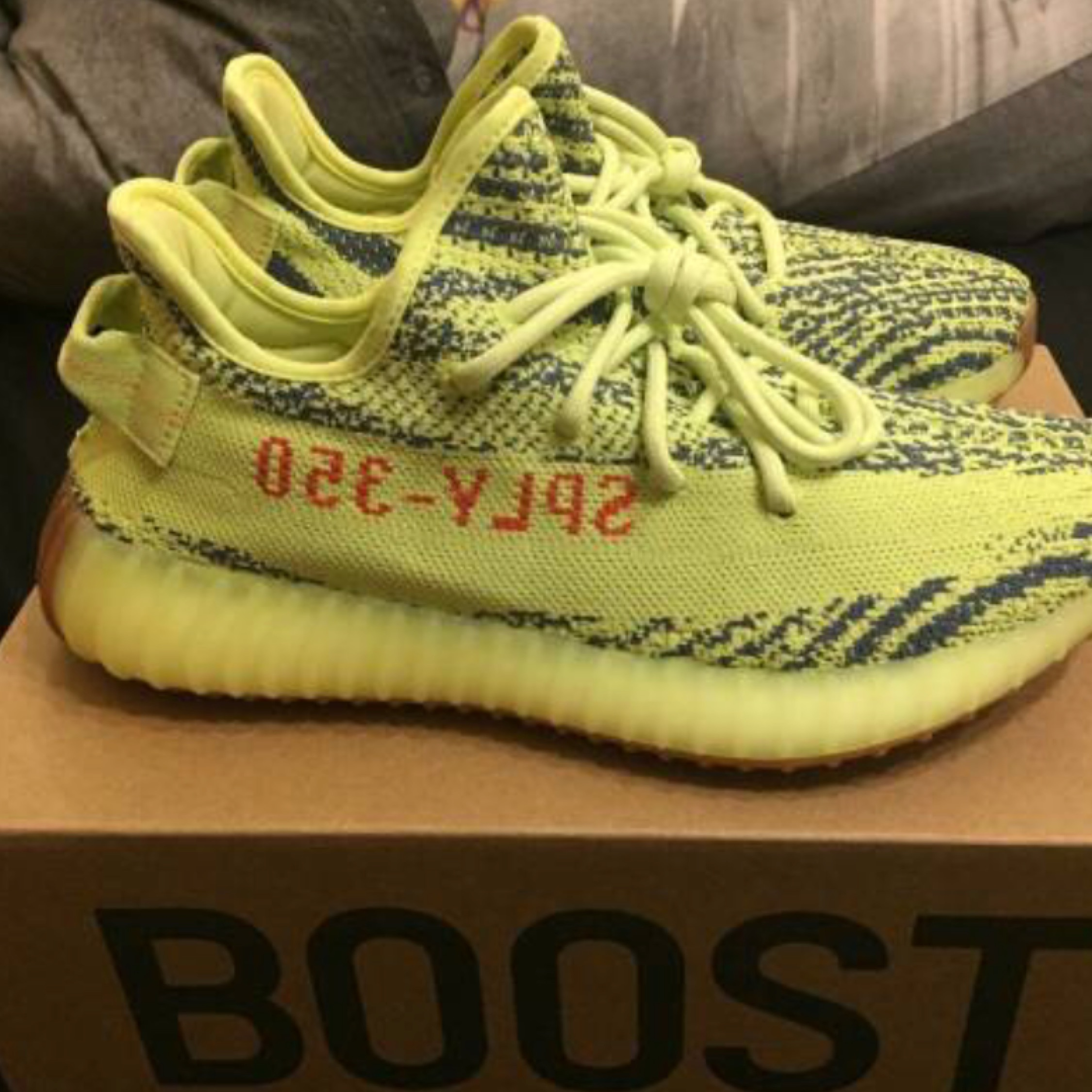 finest selection 92838 7ce65 Adidas Yeezy 350 Boost V2 Semi Frozen Yellow