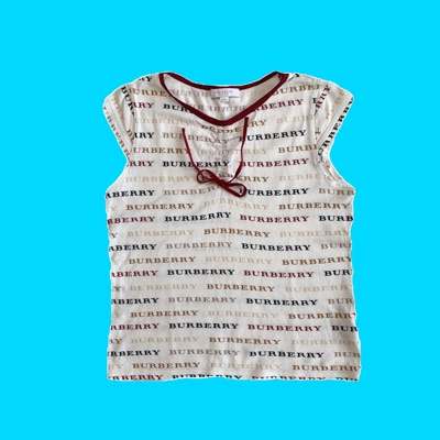 Vintage Burberry Chest Top - All Over Monogram