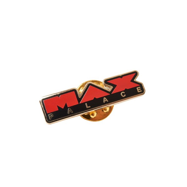 Palace Max Palace Metal Pin In Red Black