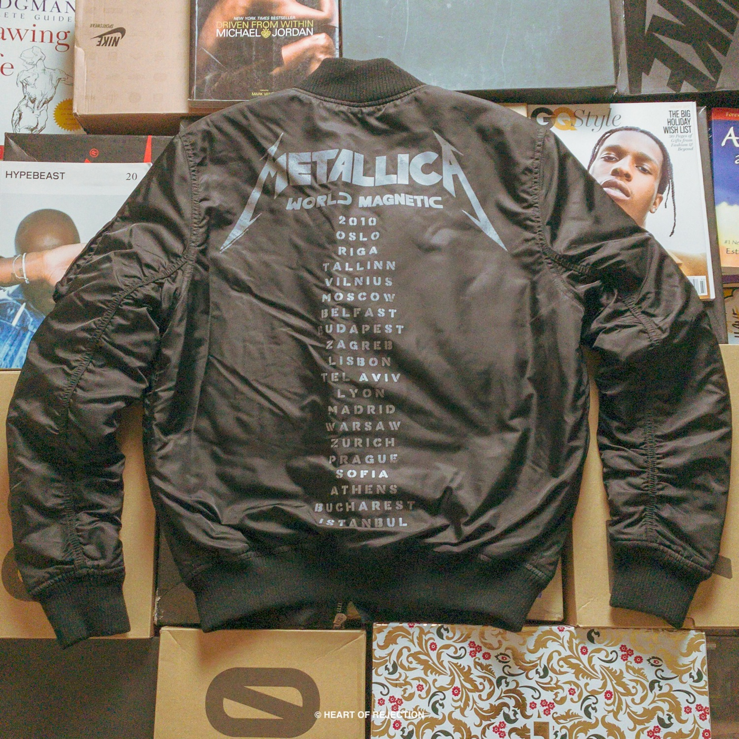 743cff1ce Metallica X H&M World Tour Bomber Jacket