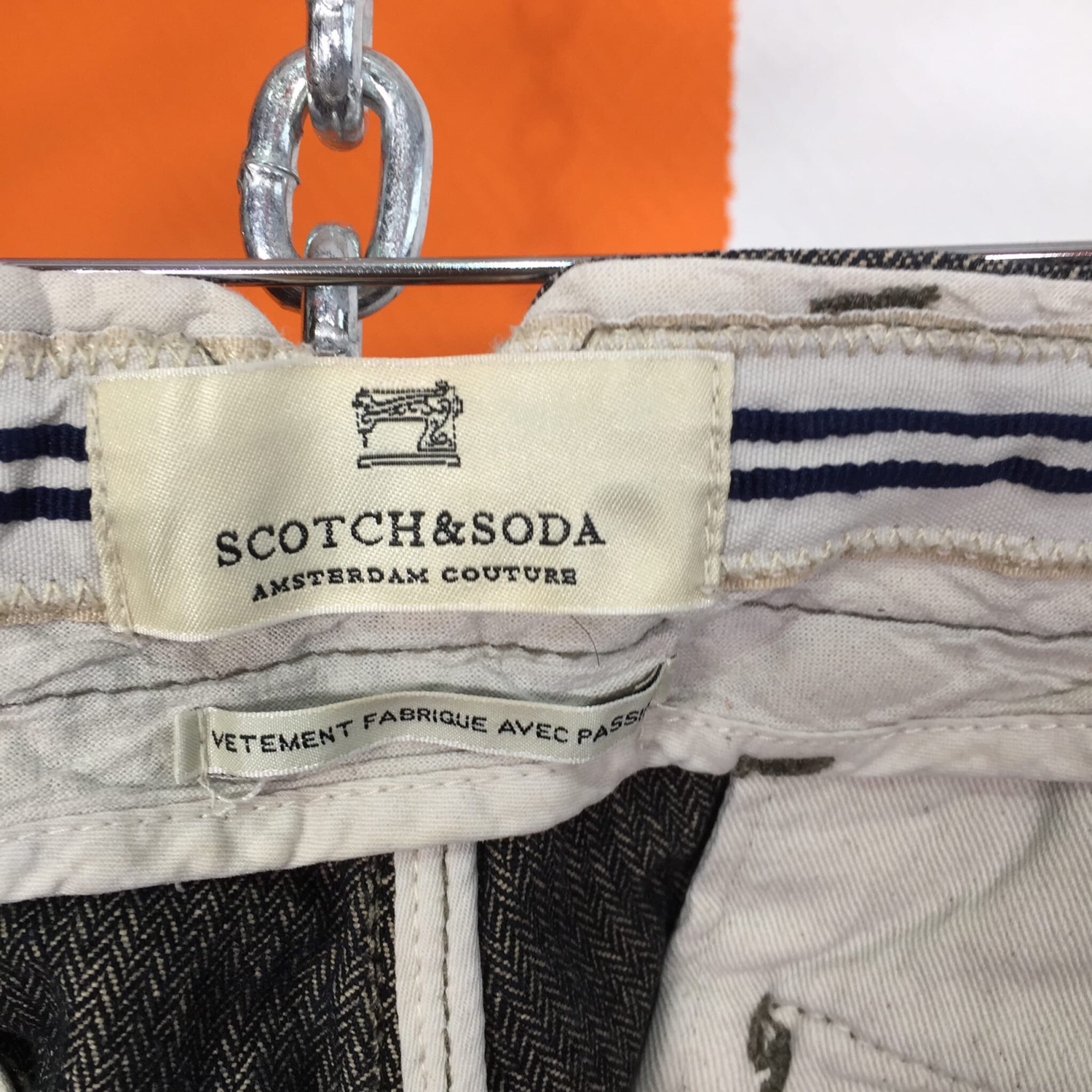 Scotch And Soda Amsterdam Tweed Chinos Pant